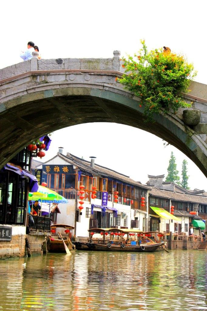 Crossing underneath the bridges