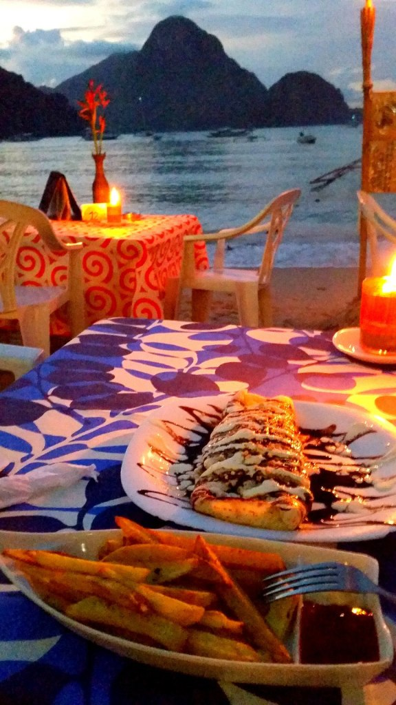 My dinner in beautiful El Nido