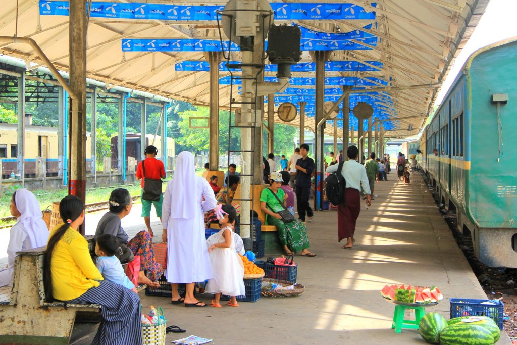 The interesting train station with vendors