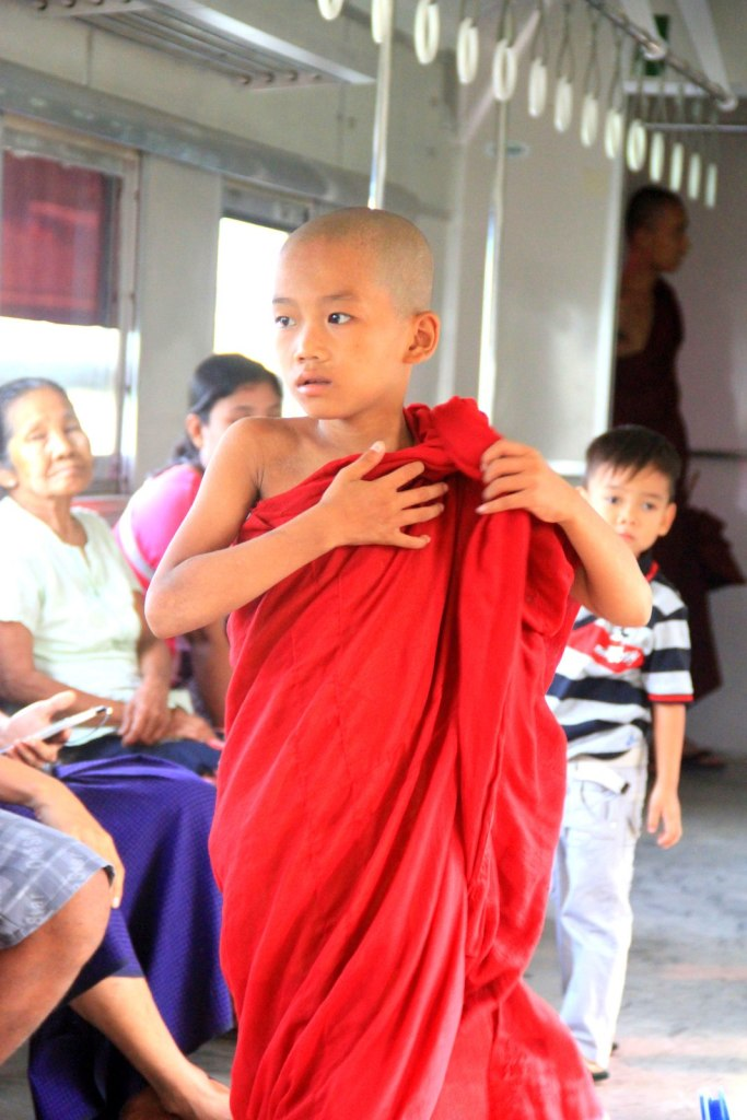 Nice shot of a young Burmese monk