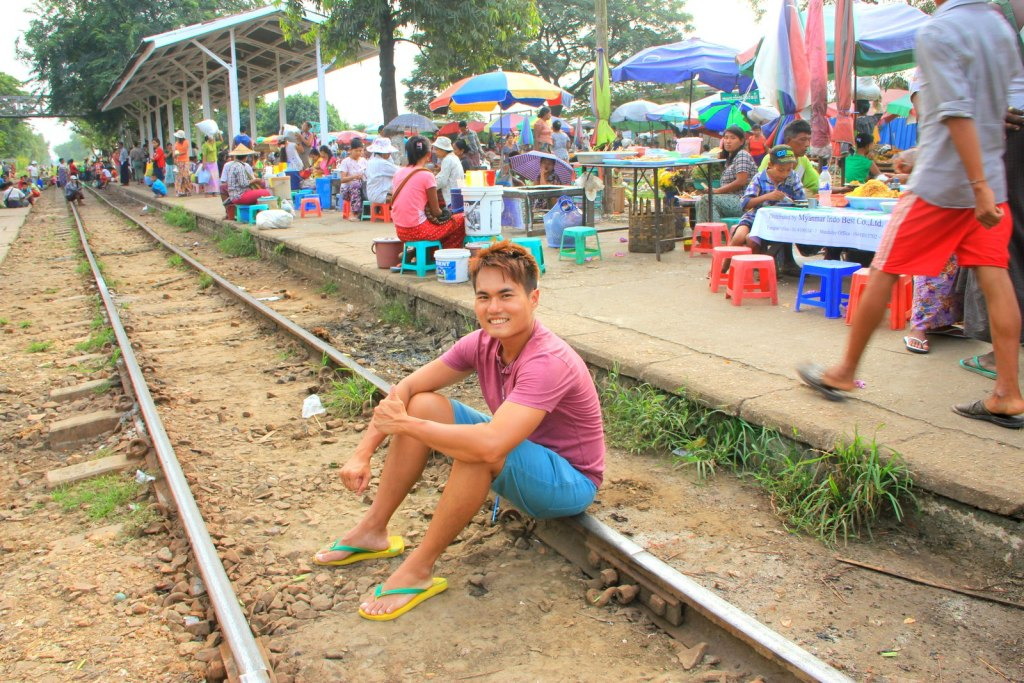 Sitting on a railway track is something we can never do in Singapore
