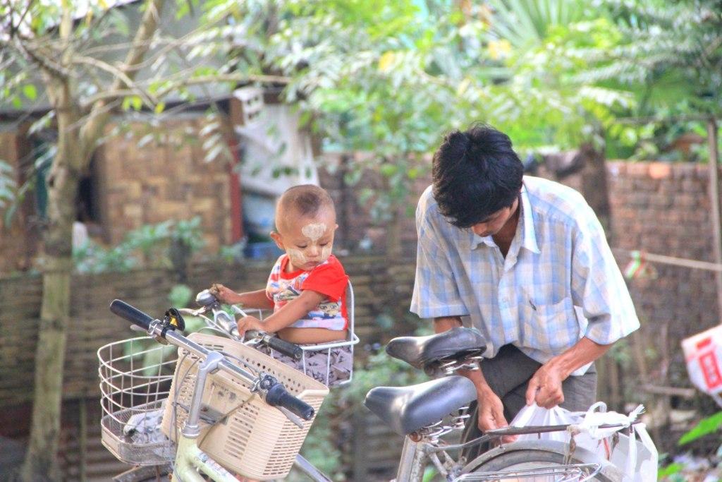 The cute little Burmese child