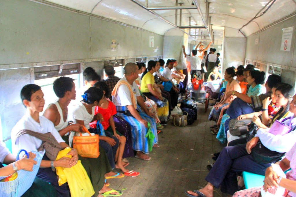 The non airconditioned local trains