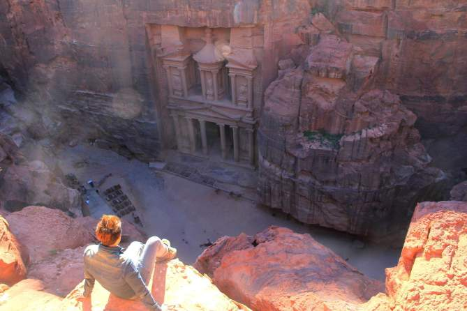 No one in Petra, Jordan! :-(