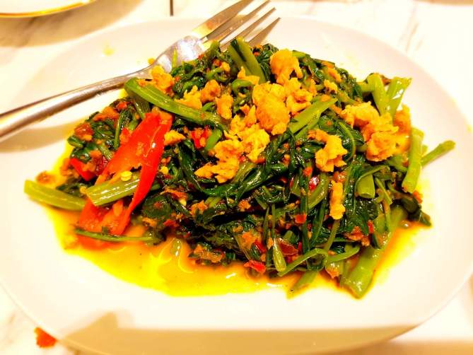 Stir Fried Kangkong (Water Spinach)