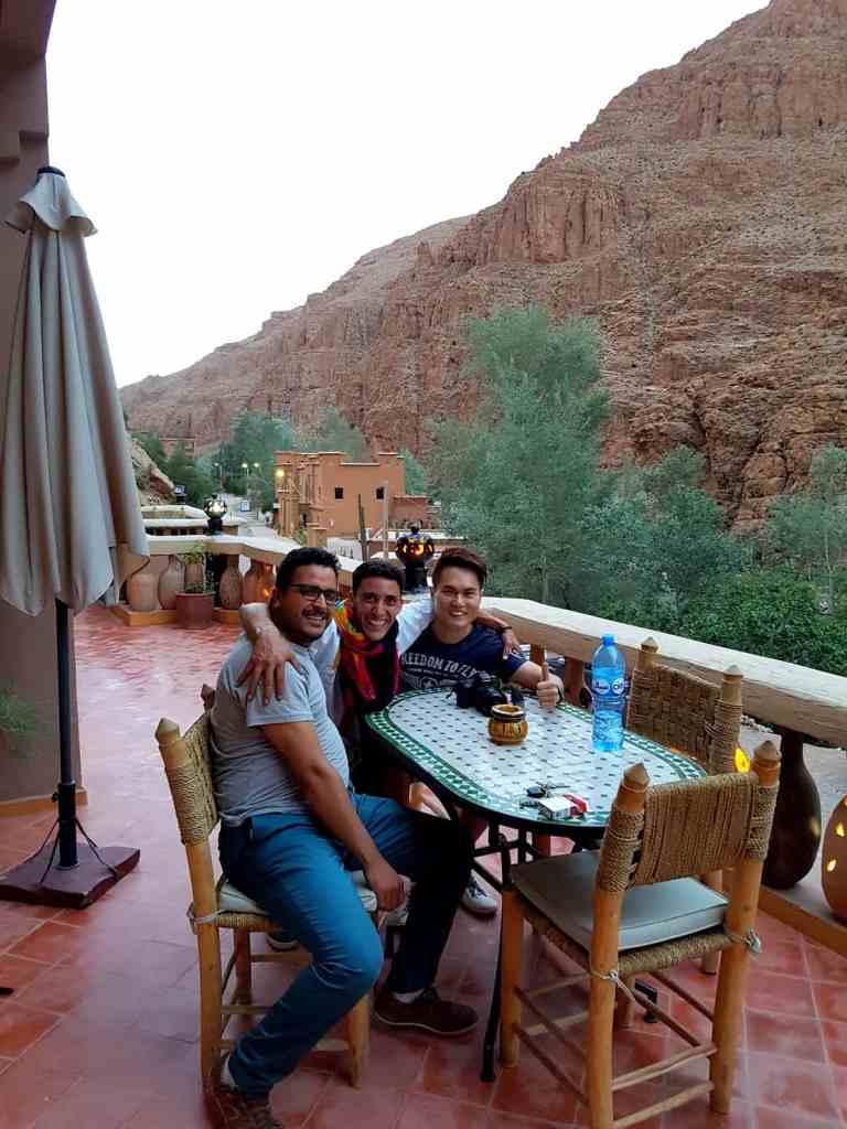 Restaurant balcony of the hotel