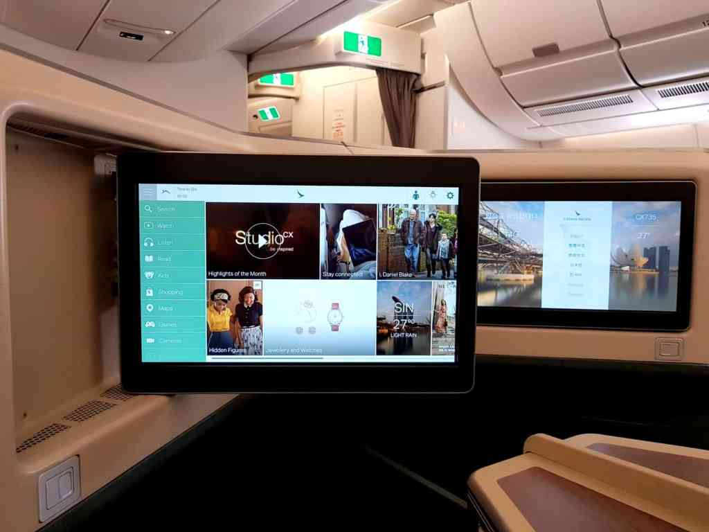 Cathay Pacific Business Class In-Flight Entertainment