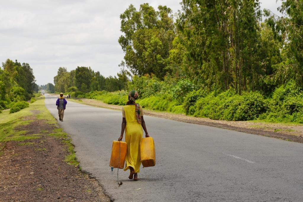 Ethiopian woman fetching water