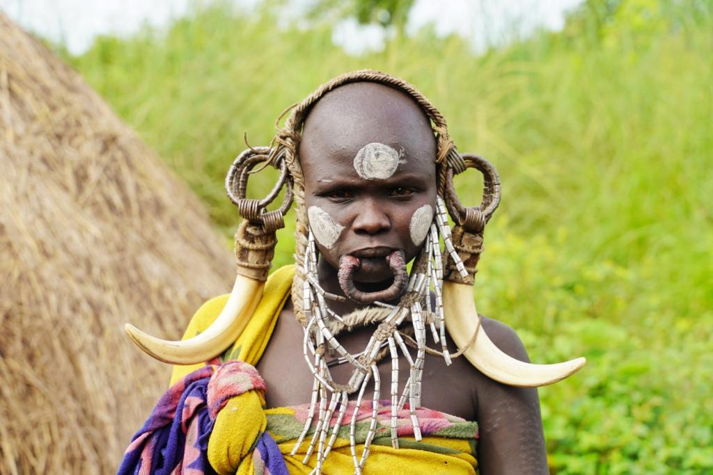 Mursi Tribe Woman Lip Plate