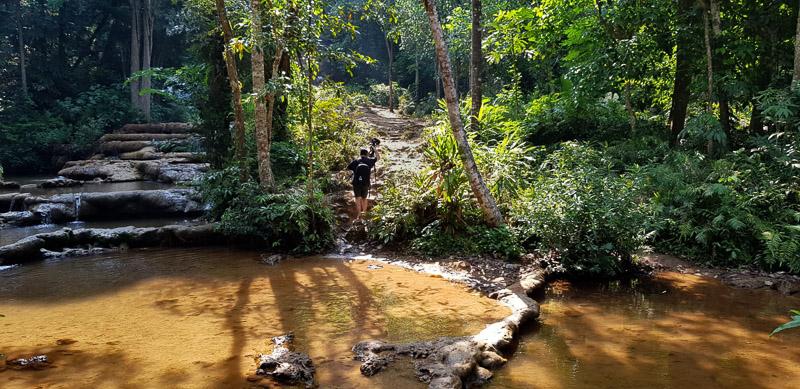 pha charoen waterfall hard trail travel is sweet