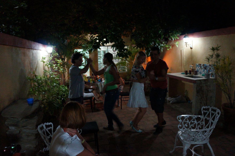 Dancing salsa in Trinidad in Cuba
