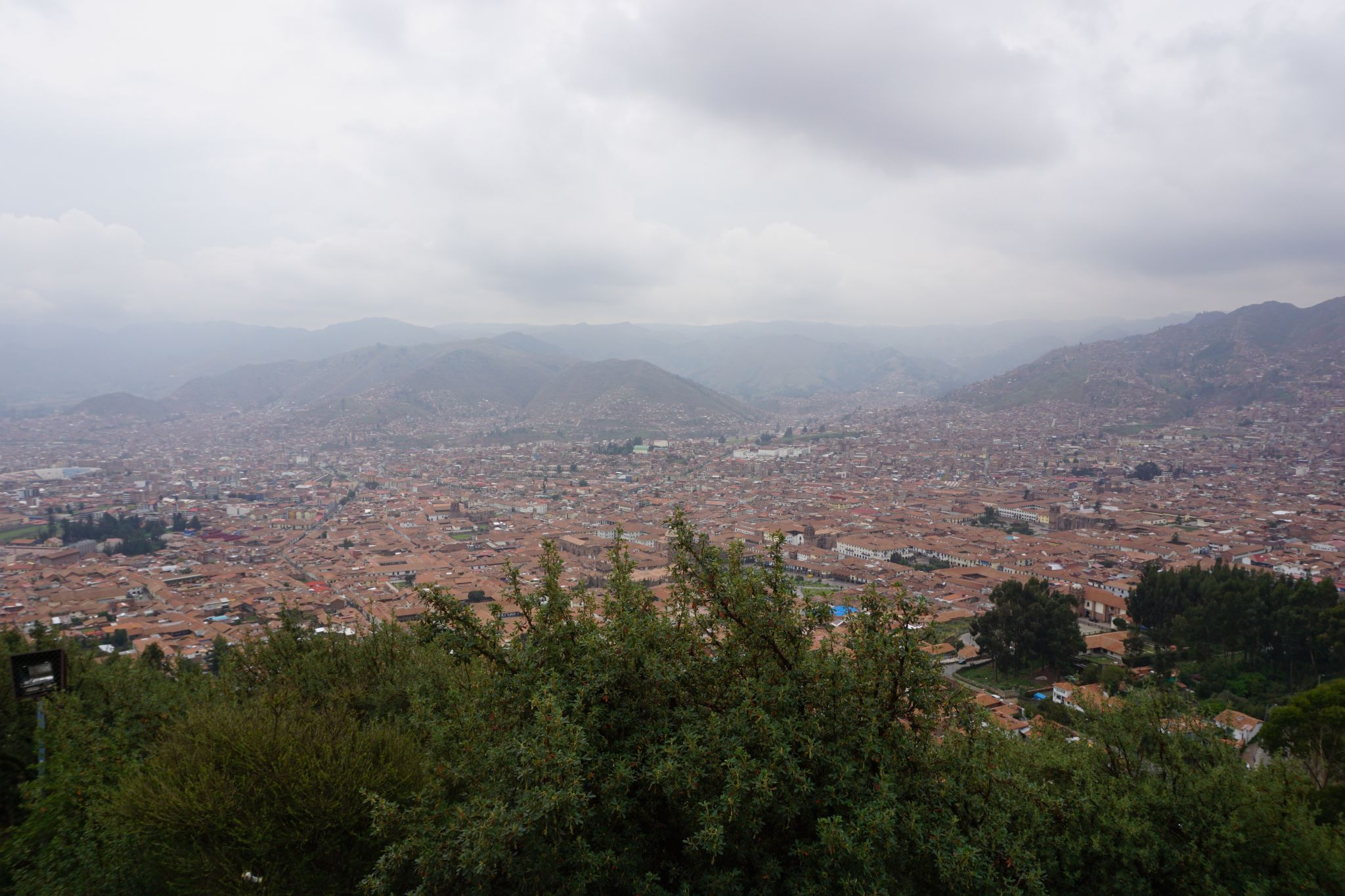 View over Cusco at high altitude