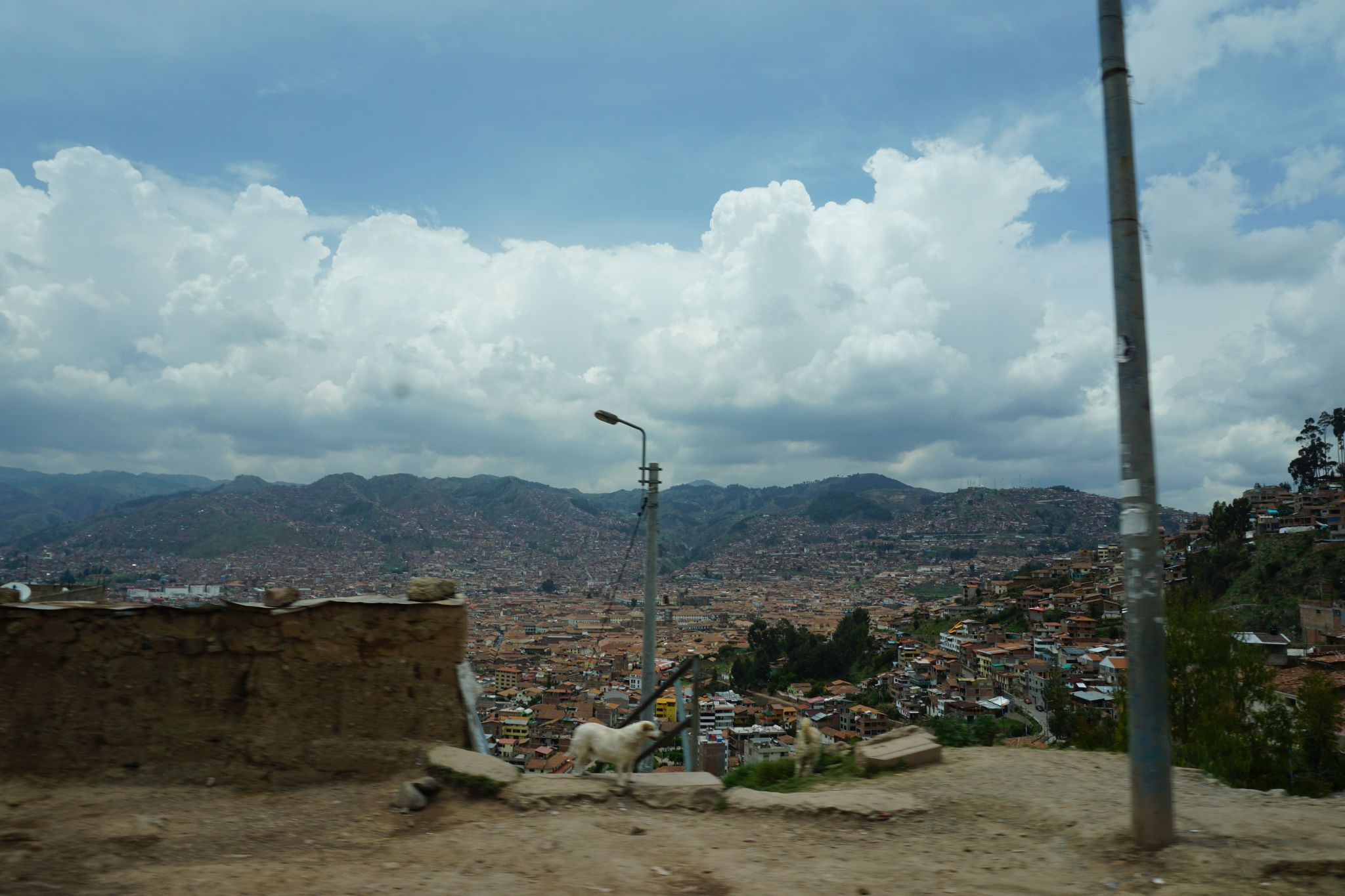 View over Cusco at 3399 metres above sea level