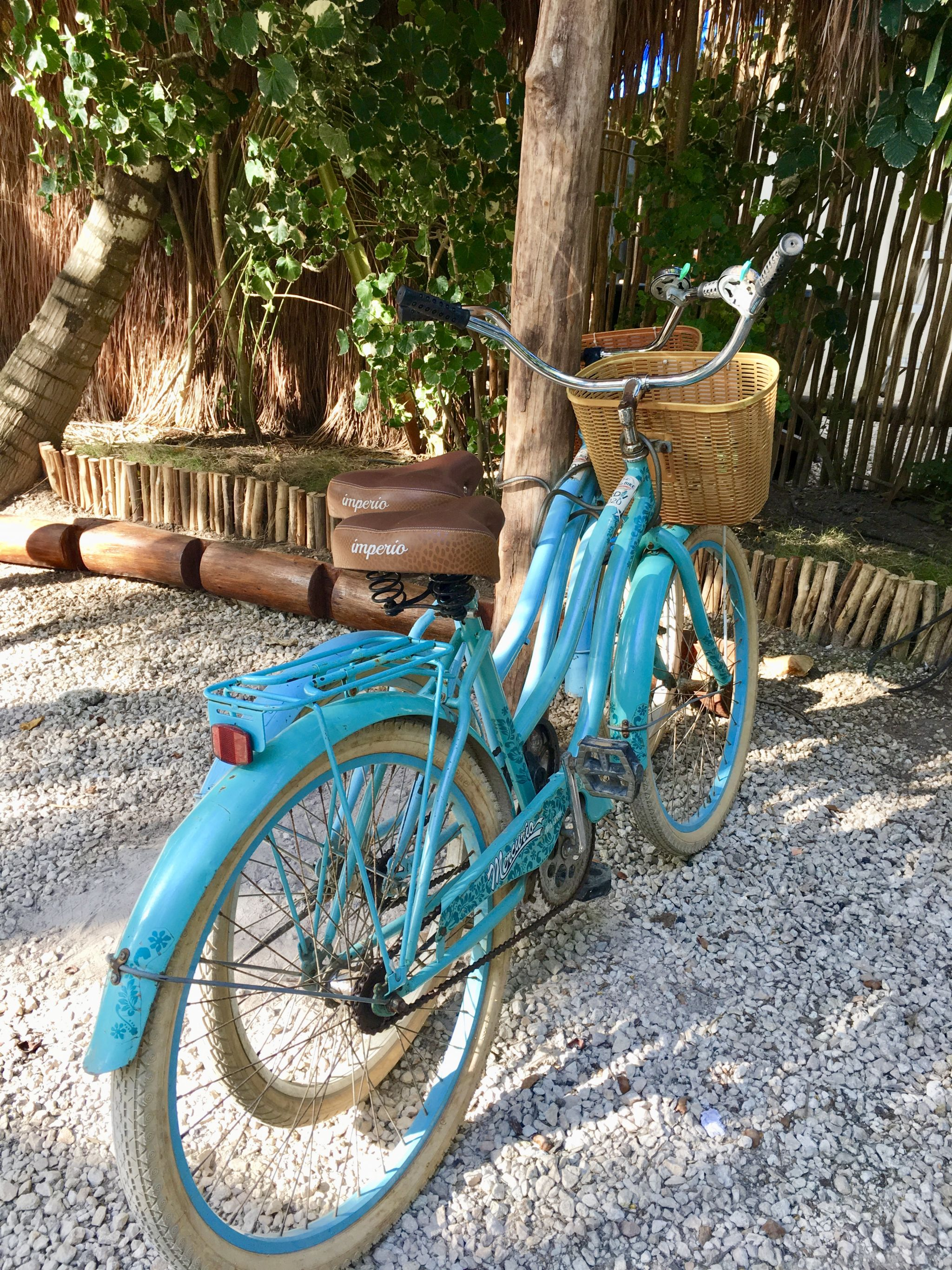 Bicycle is the transportation of choice for many in Tulum
