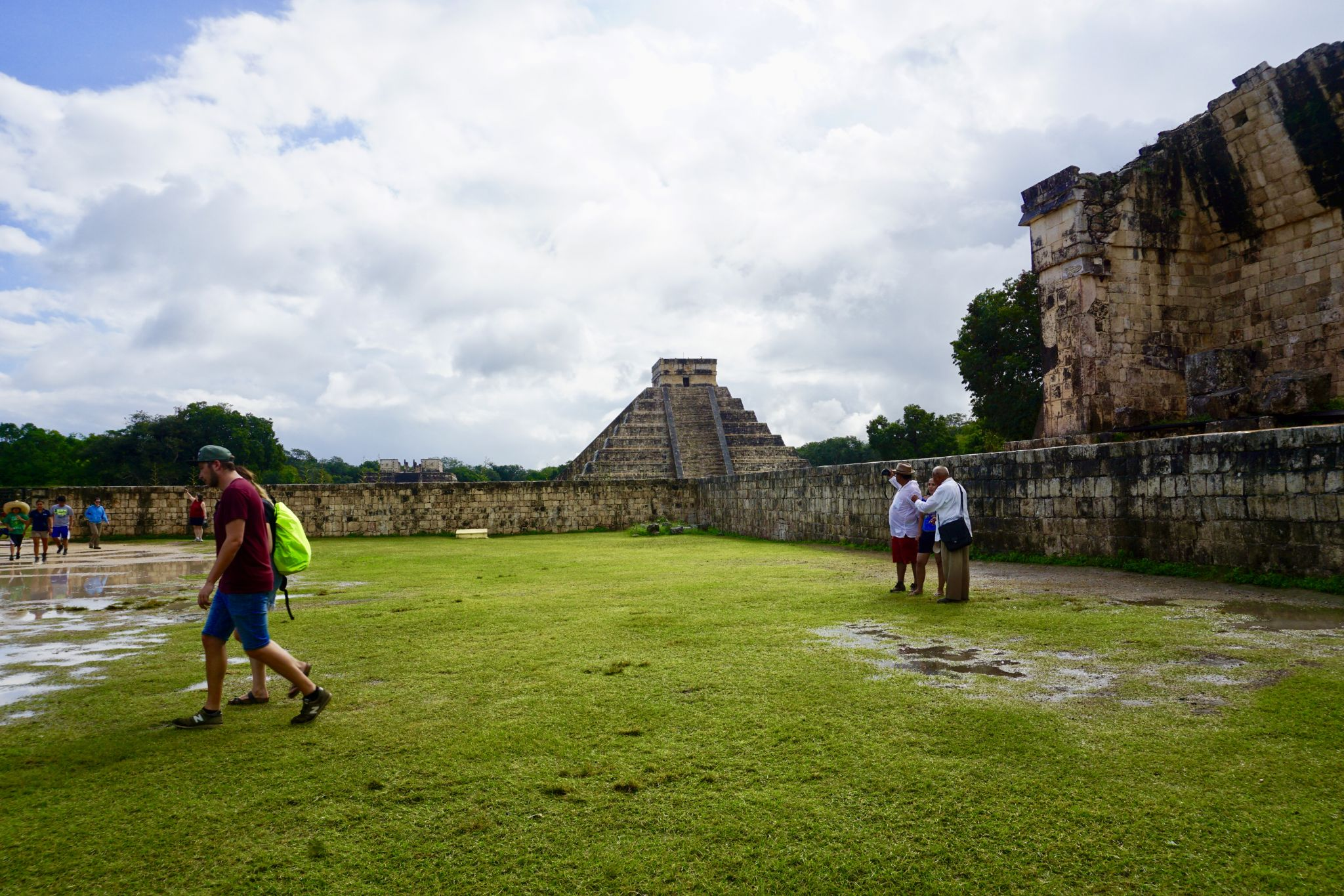 El Castillo seen from the Ball Court in Chichen Itzá