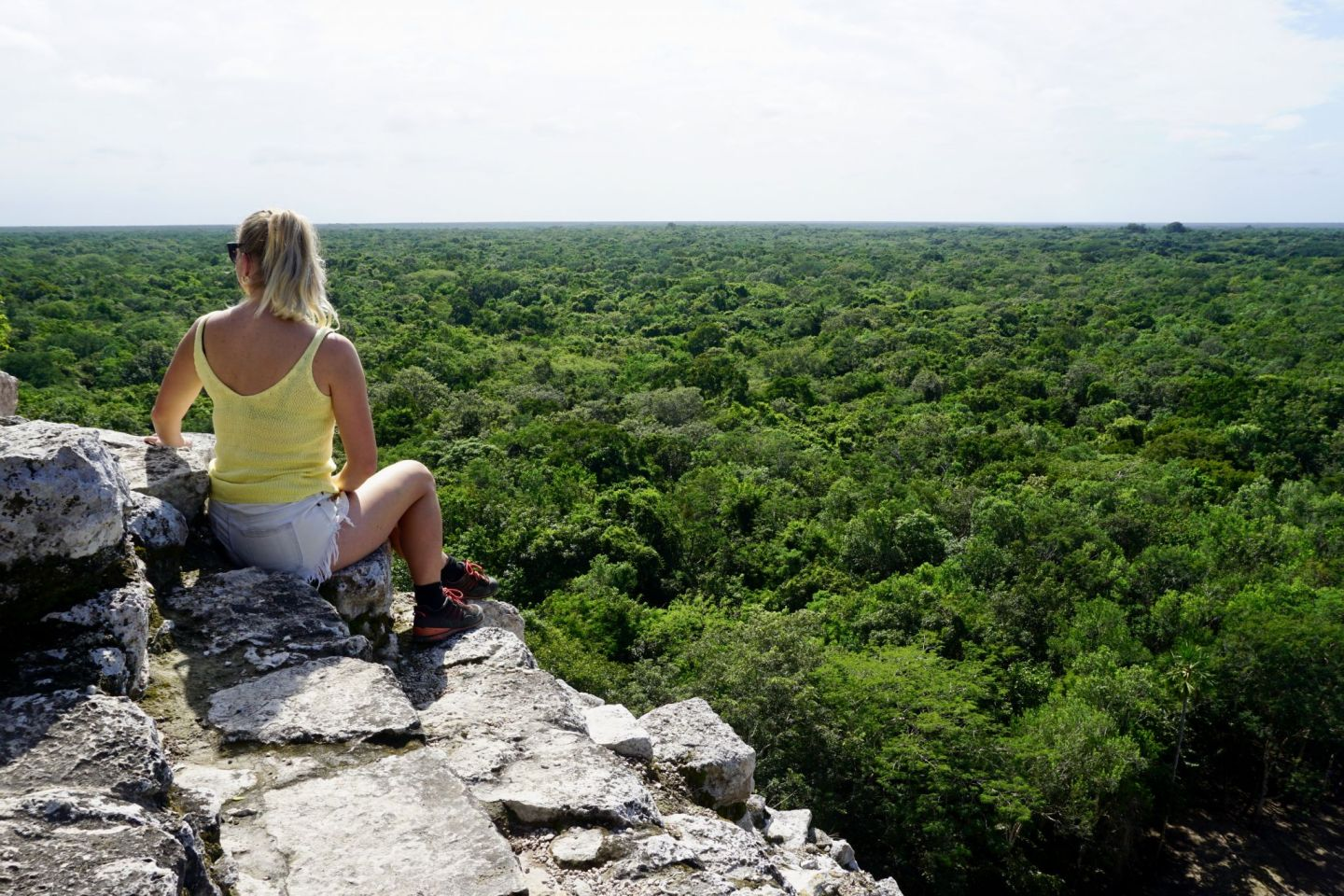 Allow time to admire the views once you've climbed the Mayan pyramid Nohoch Mul