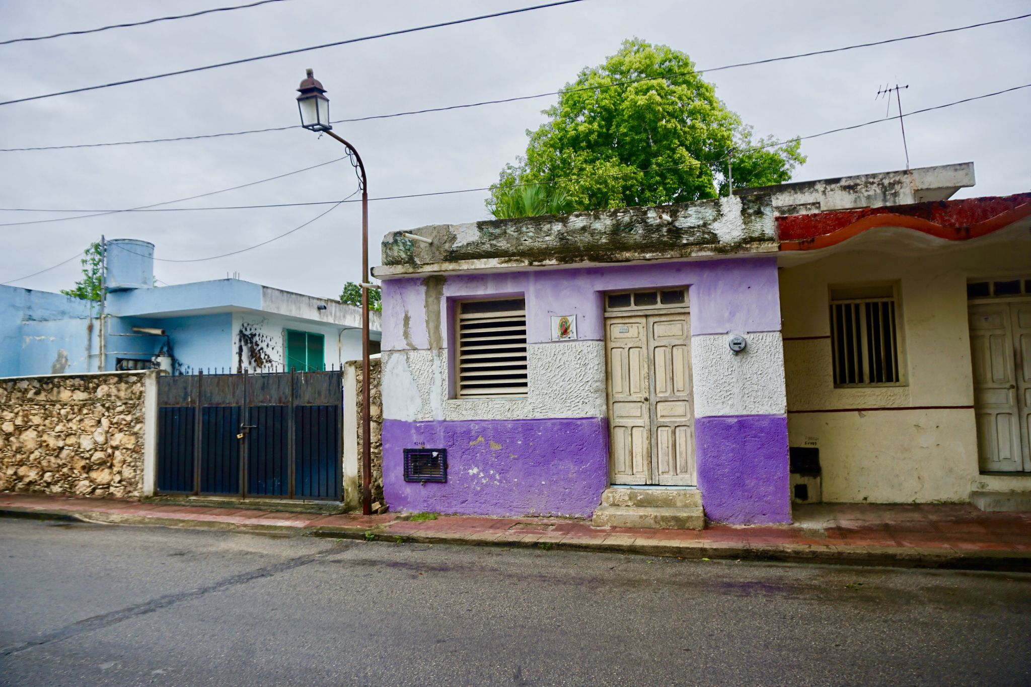 Colourful houses in Valladolid in Mexico
