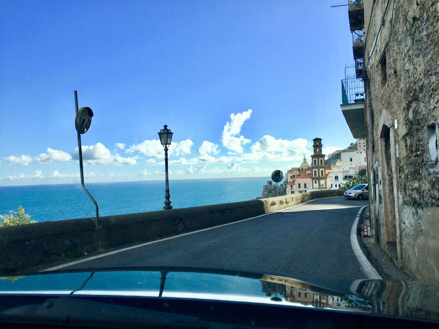 Spectacular views while driving on the Amalfi coast