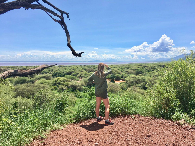 Travel Jael looking for tree-climbing lions in Lake Manyara National Park