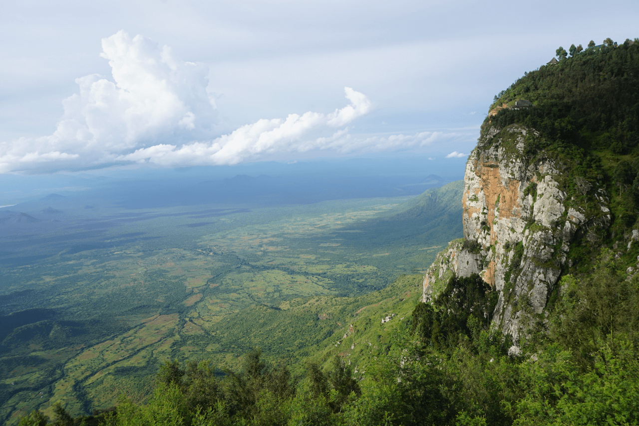 View from Mambo in the Usambara Mountains in Tanzania