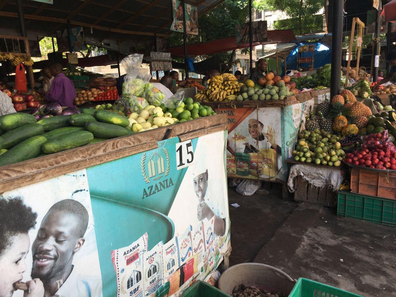 Kisutu market in Dar es Salaam