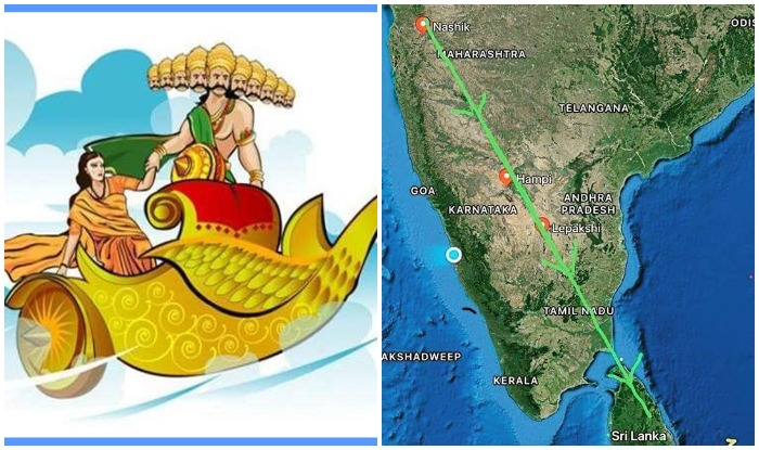 History of Ravana Pushpak Viman Route to Sri Lanka