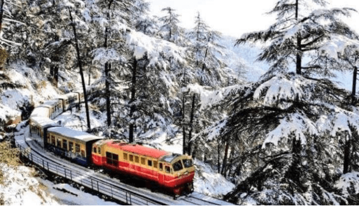 snow in himachal number of tourists increased in toy train
