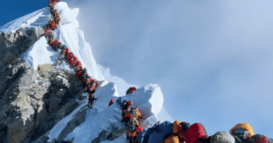 new snow height of mount everest at8848.86m