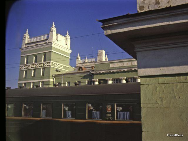 trein naar moskou, smolensk treinstation