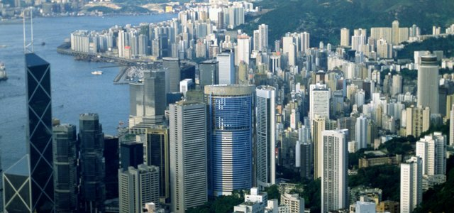 Panorama op Hongkong