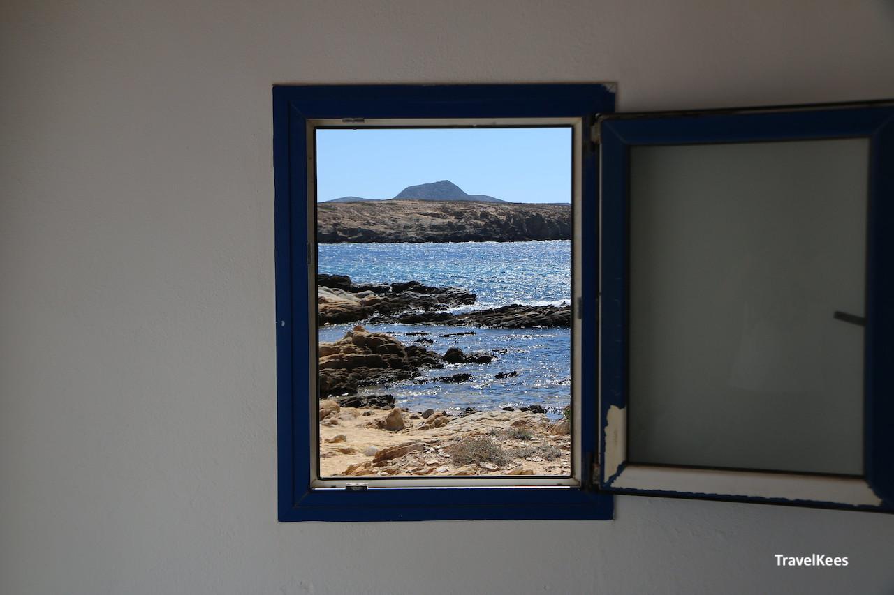 kustlijn van Antiparos, vanuit het raam