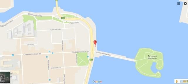 Координаты бесплатной парковки на набережной для навигатора 60.174896, 24.962017.