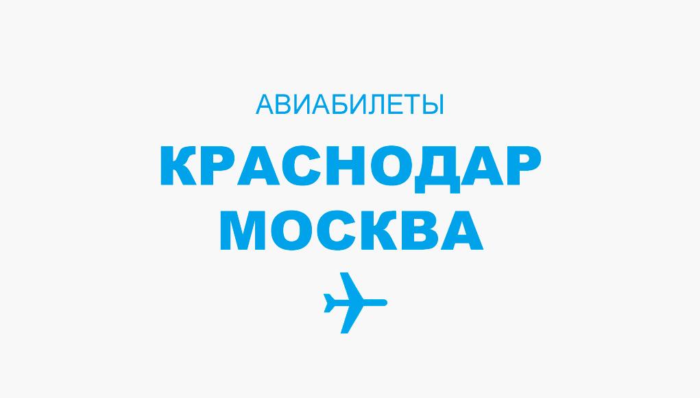 Авиабилеты Краснодар - Москва прямой рейс, расписание и цена