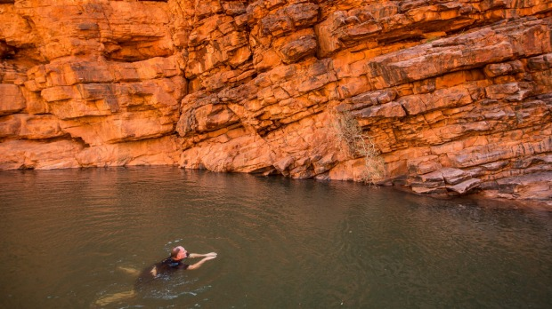 John Hayes Rockhole, an isolated pool in Trephina Gorge National Park in the East MacDonnell Range.