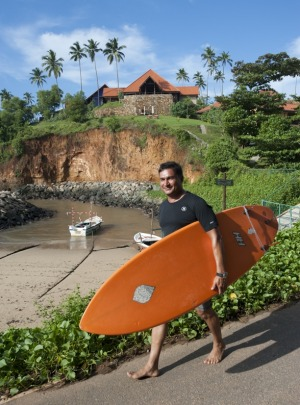 Surfing in Sri Lanka.