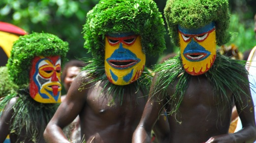 Meet the locals in PNG with Heritage Expeditions.