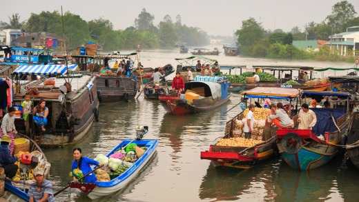 Life along the Mekong in Cambodia.