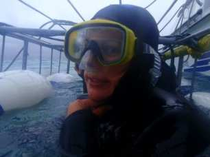Cage dive with Sharks off Gansbaai