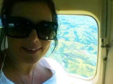 Kate flying over Fiji