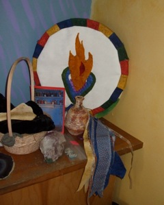 Altar with personal shield