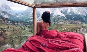 Una notte nella Starlight Room 360°, la camera di vetro vista Dolomiti