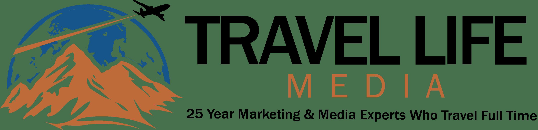 Travel Life Media 25 year logo