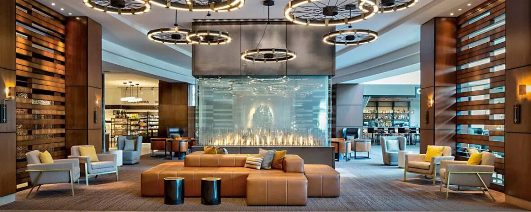 picture of lobby of marriott hotels
