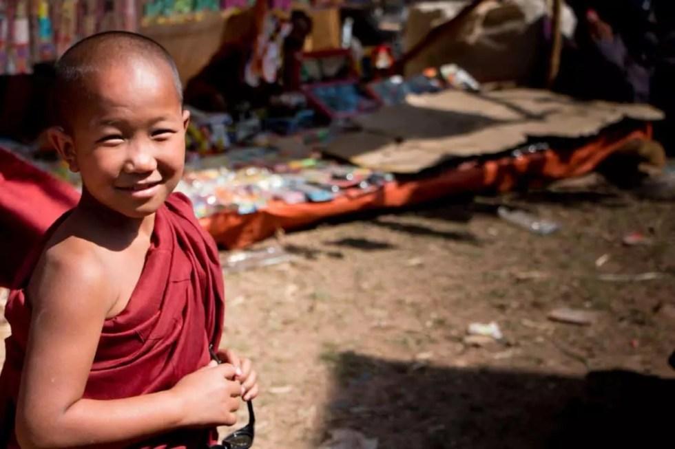 Young novice monk,Myanmar