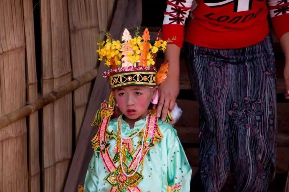 Boy in royal prince costume, Myanmar