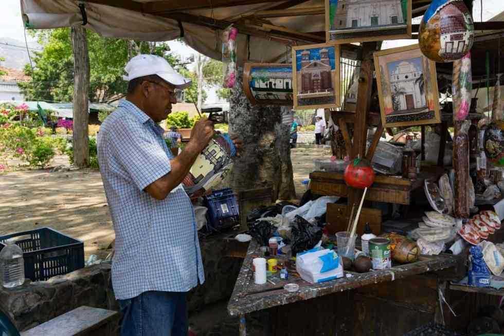 Artisan market in Colombia
