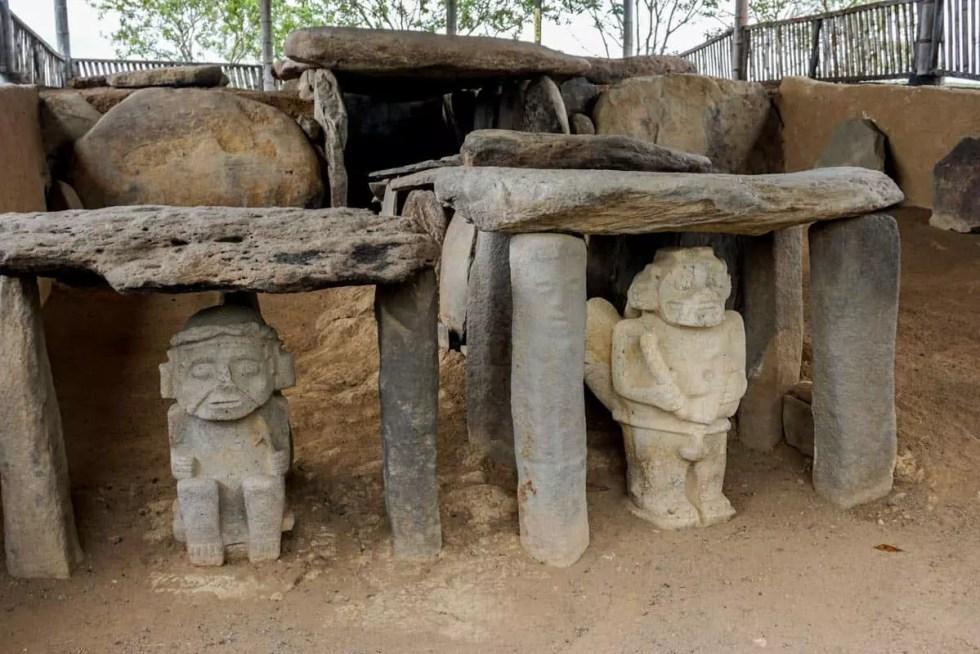 San Agustin Archeological area sites