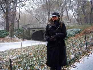 Freezing in Central Park, December 2007