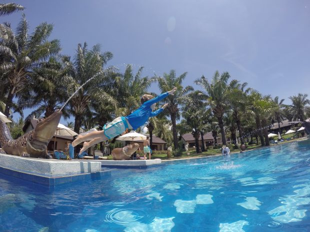 Palm Garden Resort Hoi An - jumping in the pool