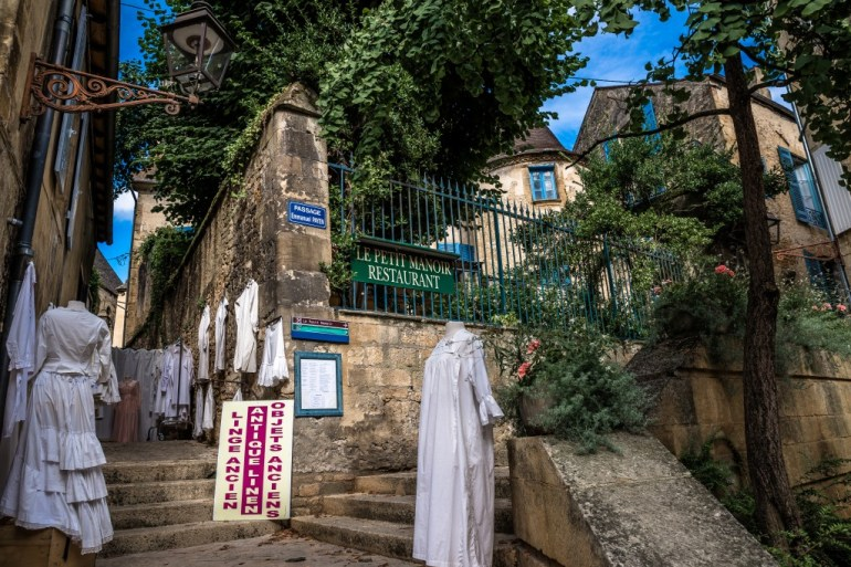traditional shops around Sarlat France